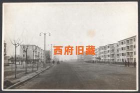 五六十年代,上海街道建筑老照片,上海张庙一条街