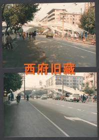 八十年代,成都骡马市未来号天桥老照片2张