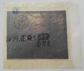 八十年代,重庆秀山县油桐树花开春茶香,由专业摄影师使用专业反转底片拍摄种茶场景,保存完好
