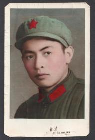 手工上色帅气军人老照片,北京丰台照相馆