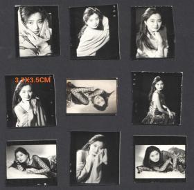 八十年代初,人像艺术照小样9张