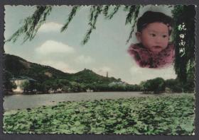 早期杭州西湖,手工上色风景人像老照片