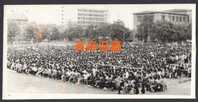 七八十年代,四川大学操场全景老照片
