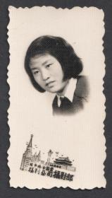 1957年,张家口地方国营福利公司摄影部,五十年代的女学生老照片