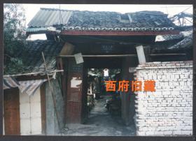 2000年前后,成都武成大街院落门头老照片,成都街道建筑老照片