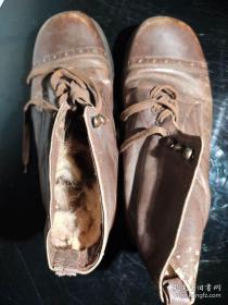 《国军皮靴》 革命烈士战场遗物 军事收藏22