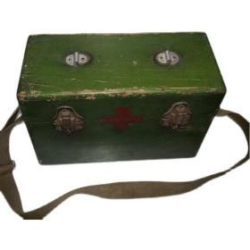 《老医药箱/保健箱》革命烈士遗物战场遗物 红色老物件抗战物品
