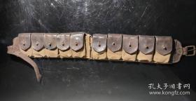 《国军真皮子弹带》保真包老  抗战红色博物馆展览23