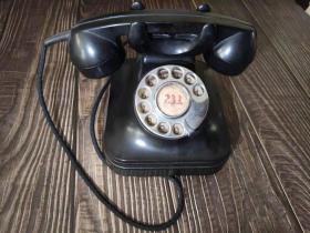 《电话机》民国时期老物件老电话机 红色收藏16A