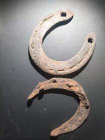 战场遗留日军马掌 古玩古董博物馆真品收藏