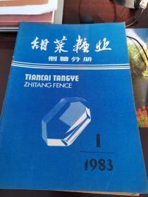 甜菜糖业1983.1