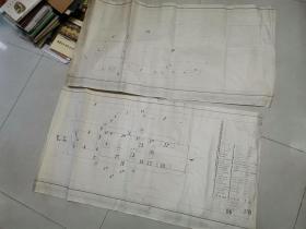 图纸2张----气轮船主要设备平面,布局总体安装图----115X60