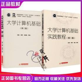 正版2册 大学计算机基础+实践教程 第二2版 龚芳 罗剑 普通高等教