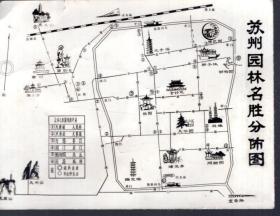 苏州园林名胜分佈图