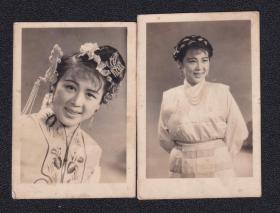 4.50年代戏剧演员老照片2张(尺寸约3.9*5.6厘米)2552