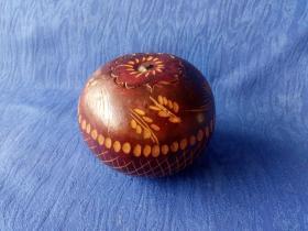 创汇期70年代大红漆葫芦摆件把玩件手工雕刻麦穗纹饰象征丰收富饶岁岁平安生意兴隆