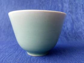 民国景德镇窑豆青釉茶道茶碗中古奢侈品家庭茶楼会所陈列展示 釉水漂亮 光润如玉