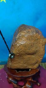 """陨石原石,稀有陨石奇石""""黄金鱼子纹陨石"""",带磁性,同体色泽黄金色、石质细腻、是非常漂亮的天然原石,富含负氧离子!,极为罕见,珍贵,稀有,精美,难得,可做镇馆之宝"""
