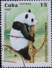 邮票,老邮票,大熊猫邮票,古巴邮票1997年中国珍稀动物大熊猫,非常罕见,稀有,珍贵,难得, !正品保真,非常稀有难得,意义深远,可谓古邮票收藏的珍品,孤品,神品