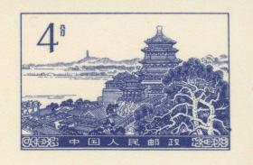 普通邮资明信片1986年4分颐和园佛香阁(终身保真,支持送评)