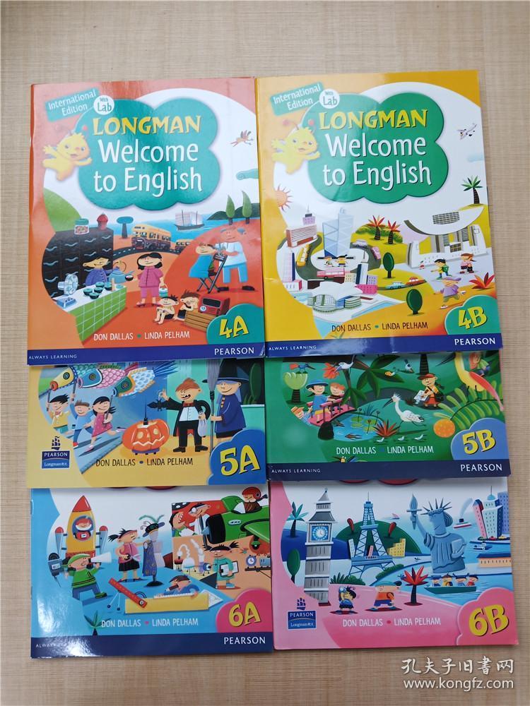 【外文原版】LONGMAN Welcome to English【4A+4B+5A+5B+6A+6B 六本合售】