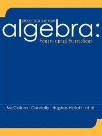 Algebra Form and Function Draft 2.0 Edition /McCallum John W