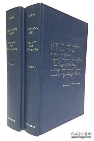 Hermann Hesse: Biography And Bibliography. Two Volumes /Jose