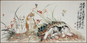 【杨宝军】北京人 中国书画艺术研究会名誉副主席 猫戏图