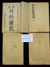 中医古籍古书老医书 改良外科图说 全套4册