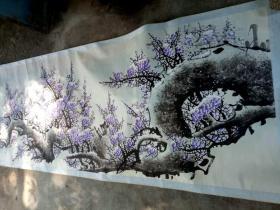 罗绮-紫气东来梅花图