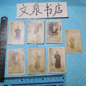 民国老照片共13枚合售 50629-10-2tg