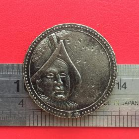 D414旧铜瑞士警卫队1506人戴礼帽十字彩带双锁匙硬币铜牌铜章珍藏