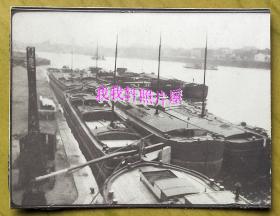 民国老照片:民国码头、江景(照片来源上海,藏家自鉴) 【桐阴委羽系列】