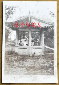 老照片:亭子与美女 【桐阴委羽系列】