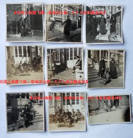 民国老照片:民国上海——狗狗——爱犬——人类的好朋友(一组9张,尺寸如图)。【民国上海霞飞路—客瑞宫公寓—大户人家旧藏系列】