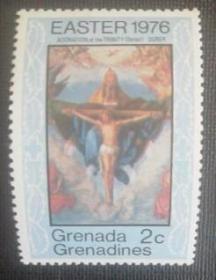 格林纳达邮票:1976年新散票1枚实拍如图收藏保真.