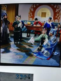 3304 戏剧史料 河南越调剧团 电影名家剧照反转片 何全志、 马兰、 陈静、 李金英 、厉小燕等主演《李天宝娶亲》1980年