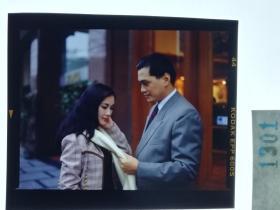 1301  电影明星 美女 剧照反转片  《泪洒台北》  1993年  有点像吕良伟