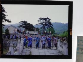 1313  电影明星 美女 剧照反转片 《双雄会》1984年  结义在山寨