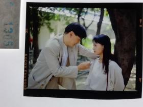 1305  电影明星 美女 剧照反转片  《泪洒台北》  1993年 林间恋爱