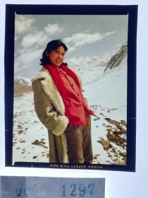 1297  电影明星 美女 剧照反转片  《砂砾》  雪山上的美人  主演定妆照