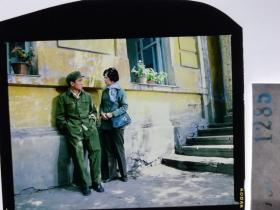 1285  电影明星 美女 剧照反转片  《砂砾》  墙角恋爱