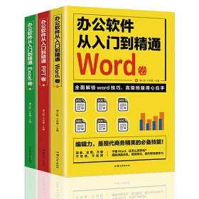 全套3册 办公软件自学Word PPT Excel从入门到精通 wps教程表格制作函数办公软件书籍