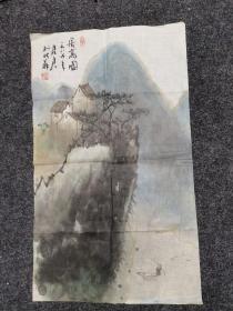 中国美协会员江苏苏州美协主席、苏州画院第三任院长享受国务院津贴孙君良作品2平尺半保真