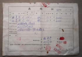 离婚证  新晃县沙湾人民公社   怀化   之三