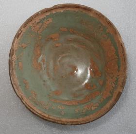 宋代   益阳    羊舞岭窑    青白釉茶碗  [高3.7cm径10.2cm]
