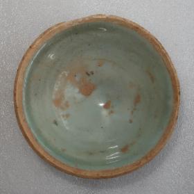 宋代   益阳    羊舞岭窑    青白釉茶碗  [高3.8cm径9.5cm]