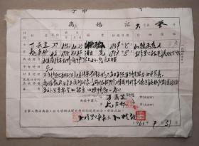 离婚证  新晃县沙湾人民公社   怀化   之四