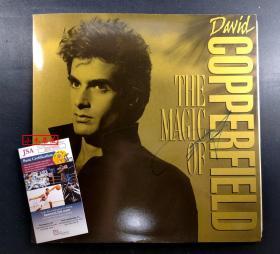 """""""大卫魔术"""" 大卫·科波菲尔 签名激光大碟封套 由三大签名鉴定公司之一JSA提供鉴定"""