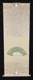 【日本回流】原装旧裱 高浜虚子之女、著名女俳人 星野立子 书法作品《百合》一幅(纸本立轴,画心约0.3平尺)HXTX234160